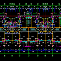 2076平米四层框架住宅楼课设图(计算书、部分建筑、结构图)