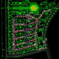 小区雨水排水设计CAD图纸