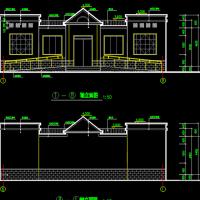 12.9X8.1米某市城区土建公厕设计建筑图