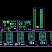 104米高层办公楼钢结构施工图