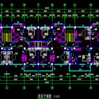 2700平米五层框架结构住宅楼毕业设计(全套图纸及计算书)