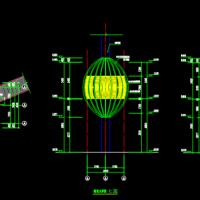 钢结构树屋CAD建筑图