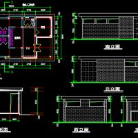 15.9X8.6米 1层风景区公厕方案设计图