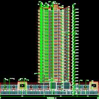 江西赣州10715平米26层剪力墙结构商住楼建筑及结构全套图