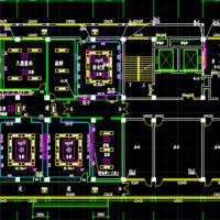 某层7层医院门诊及病房楼给排水设计CAD图