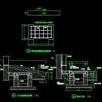 散水排水明沟CAD设计图,