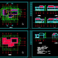 1层100平米砖混结构欧式公厕建筑图