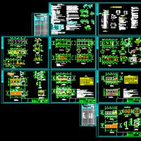 厕所垃圾站及环卫办公用房建筑结构设计图