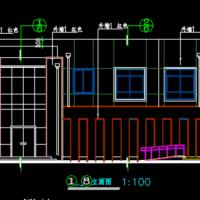二层砖混结构302平米城市环卫班点及公厕设计图