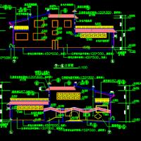 2层380平米框架结构公厕及垃圾站建筑图