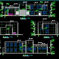 二层330平米砖混结构城市环卫班点及公厕建筑图