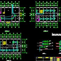 三层小型办公楼弱电平面及系统设计图