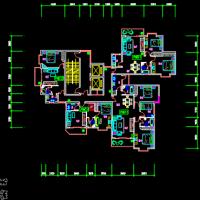 一类高层住宅楼户型图(围合建筑)