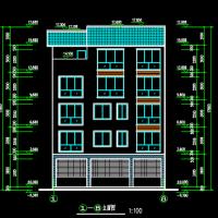 12.2X10.9米绵阳五层框架结构自建房建筑及结构毕业设计(带计算书)