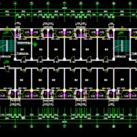 4000平米五层框架结构宿舍楼建结水电全套图