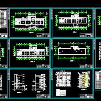 1734平米防疫站疾病预防控制中心五层综合楼建筑图