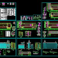 3225平米5层框架结构欧式办公楼建筑结构全套图