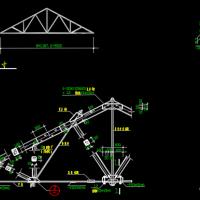 14m跨三角拱屋架及7m跨木屋架设计图