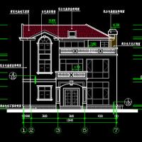 12.64X14.54三层砌体结构别墅建筑图