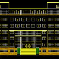 5061平米七层框架行政办公楼建筑设计CAD图