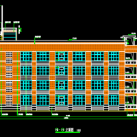江西四层框架结构教学楼建筑设计图