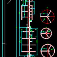 12m不锈钢抱杆通信塔CAD设计图