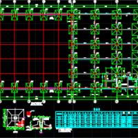 河南30米跨10t行车钢框架结构厂房施工图