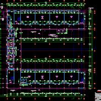 江苏溧阳5221平米4层框架结构小学教学楼建结水电全套图(混凝土管桩)