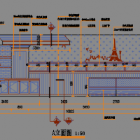 现代精品蛋糕店室内装修施工图(含效果图)