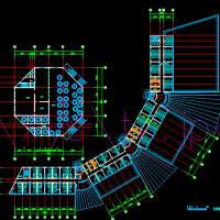6层宾馆综合楼建筑方案设计CAD图