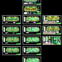 河南17层剪力墙结构住宅楼施工图(筏板基础CFG桩)