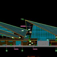 江苏丹顶鹤造型珍禽馆建筑及结构全套图
