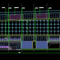 贵州4432平米某民族学院三层会堂建筑及结全套图2019最新