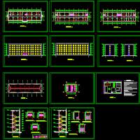 4000平米5层办公楼毕业设计(计算书、施组、建筑、结构图)
