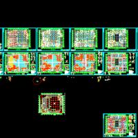 广东东莞六层框架结构学生食堂结构施工图纸