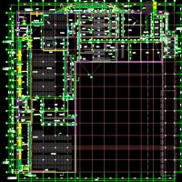 某中学半地下一层食堂建结水电全套图