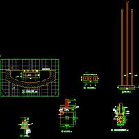 升旗台建筑及结构CAD详图