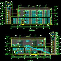 湖南长沙某中学体育馆及多功能厅建结水电全套施工图(含地库人防)