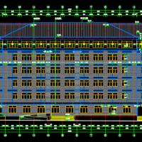 湖南长沙某中学科技楼建结水电全套图