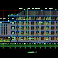 湖南长沙某学校办公楼建结水电全套图