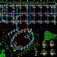 某大学生活动中心框架结构设计图