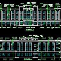 新疆2439平米3层办公楼建筑图及工程量计算及预算书(广联达实例 图纸)