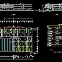 给水斜管沉淀池CAD设计图