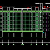 舟山5190平米六层框架结构宾馆建筑图