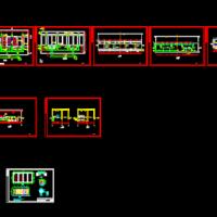 某地污水厂D型滤池CAD设计施工图