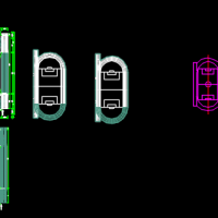 多种标准跑道cad图(50m 200m 300m 400m)