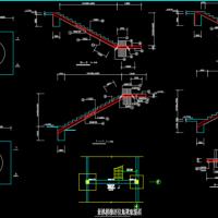 单边悬挑楼梯结构设计CAD图