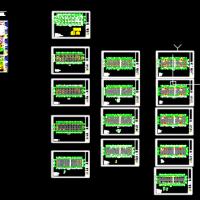 江西三层框架结构办公楼结构施工图(独立基础)