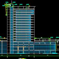 武汉17层办公楼建筑设cad施工图纸