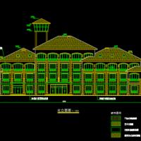 杭州3919平米四层宾馆建筑及结构全套图